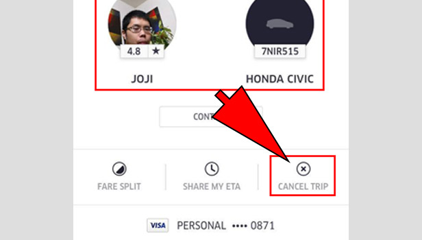 Cancel Uber Ride