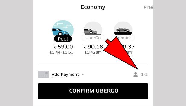 book uber pool