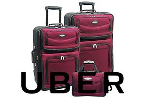 Uber with luggage
