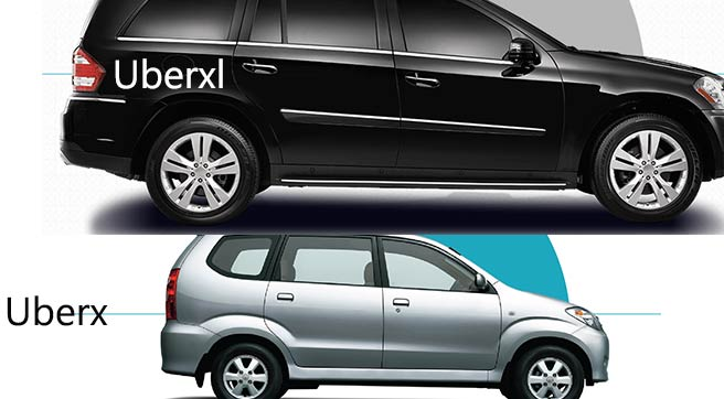 uberx vs uberxl