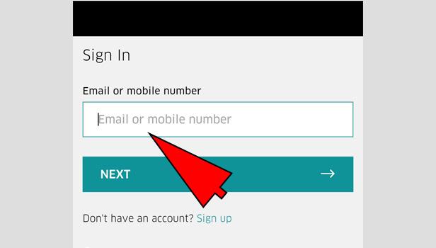 change uber phone number