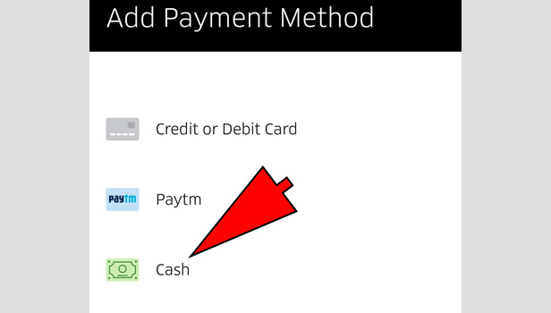 Pay Using Cash