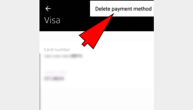 Delete Credit Card from Uber