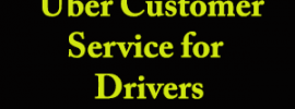 uber customer service for drivers