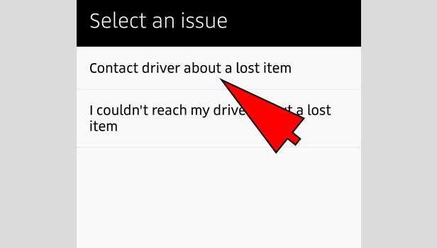 uber lost item