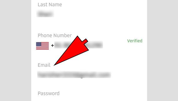 change uber email