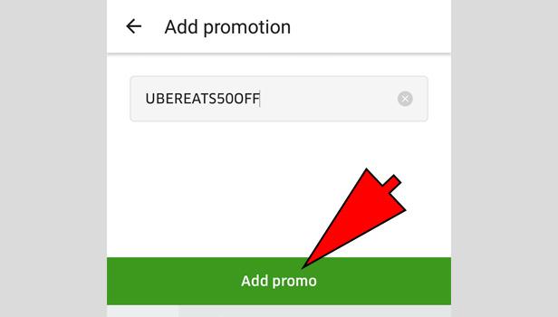 Use UberEATS Promo