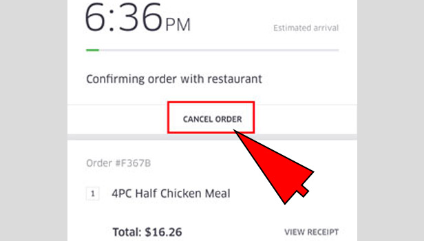 How To Cancel Uber >> How To Cancel An Uber Eats Order Uber Guide