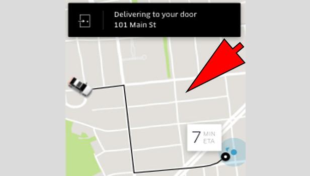 order food in Uber Eats App