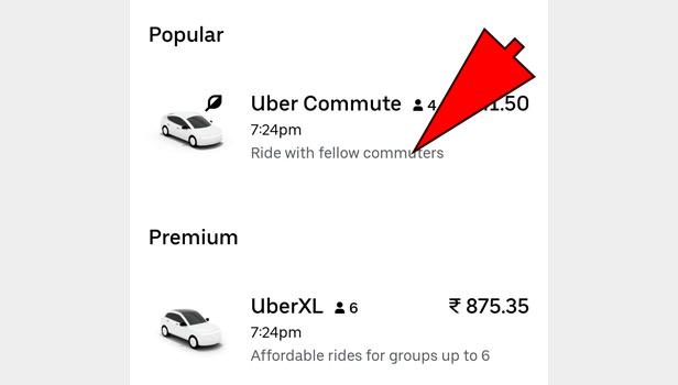 book Uber cab
