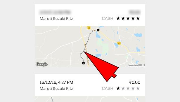 Uber invoice