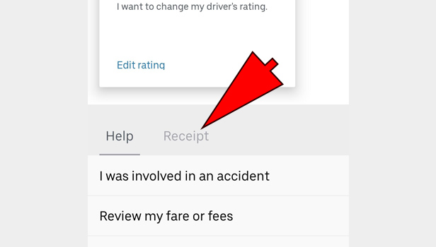 download Uber invoice
