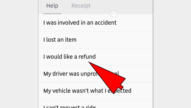 Complaint against Uber driver for over charge