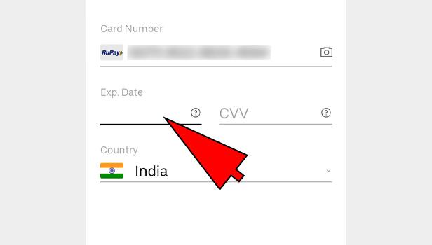 Change Credit Card in Uber