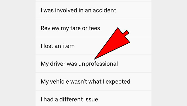email Uber