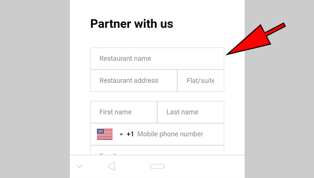 Sign up on UberEats as a Restaurant