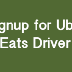How to Signup for Uber Eats Driver