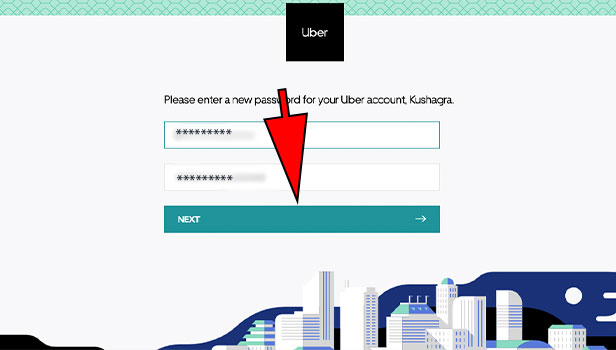 Reset the Password for Uber Eats