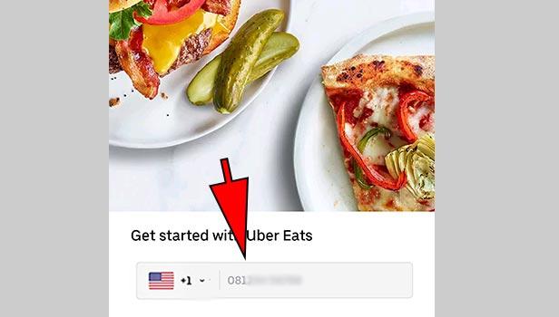 signup for Uber Eats