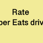 How to Rate Uber Eats driver