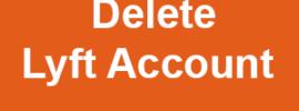 delete Lyft account