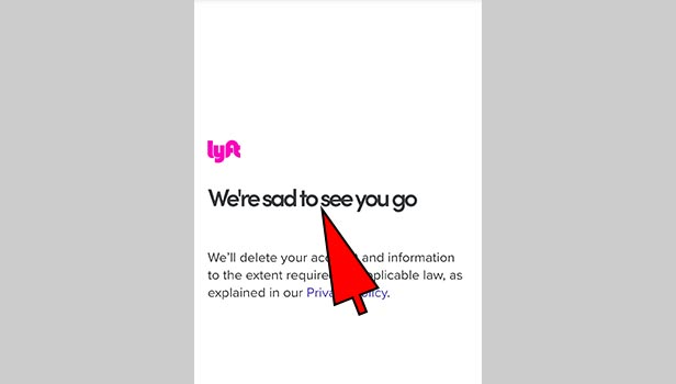 delete Lyft account