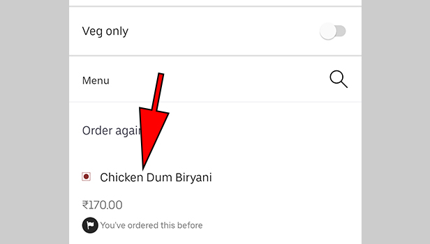 Order on Uber Eats with Cash